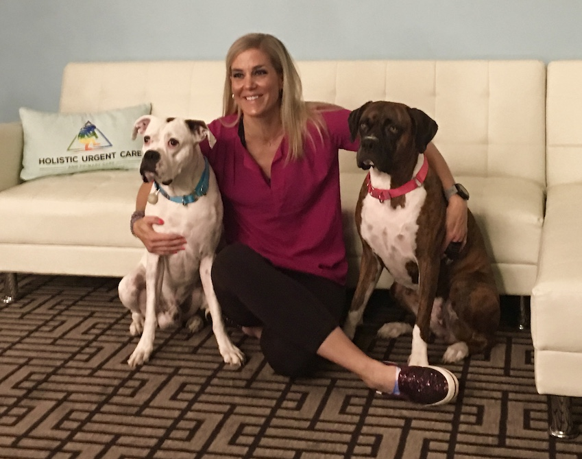 Rebecca with doggos resize